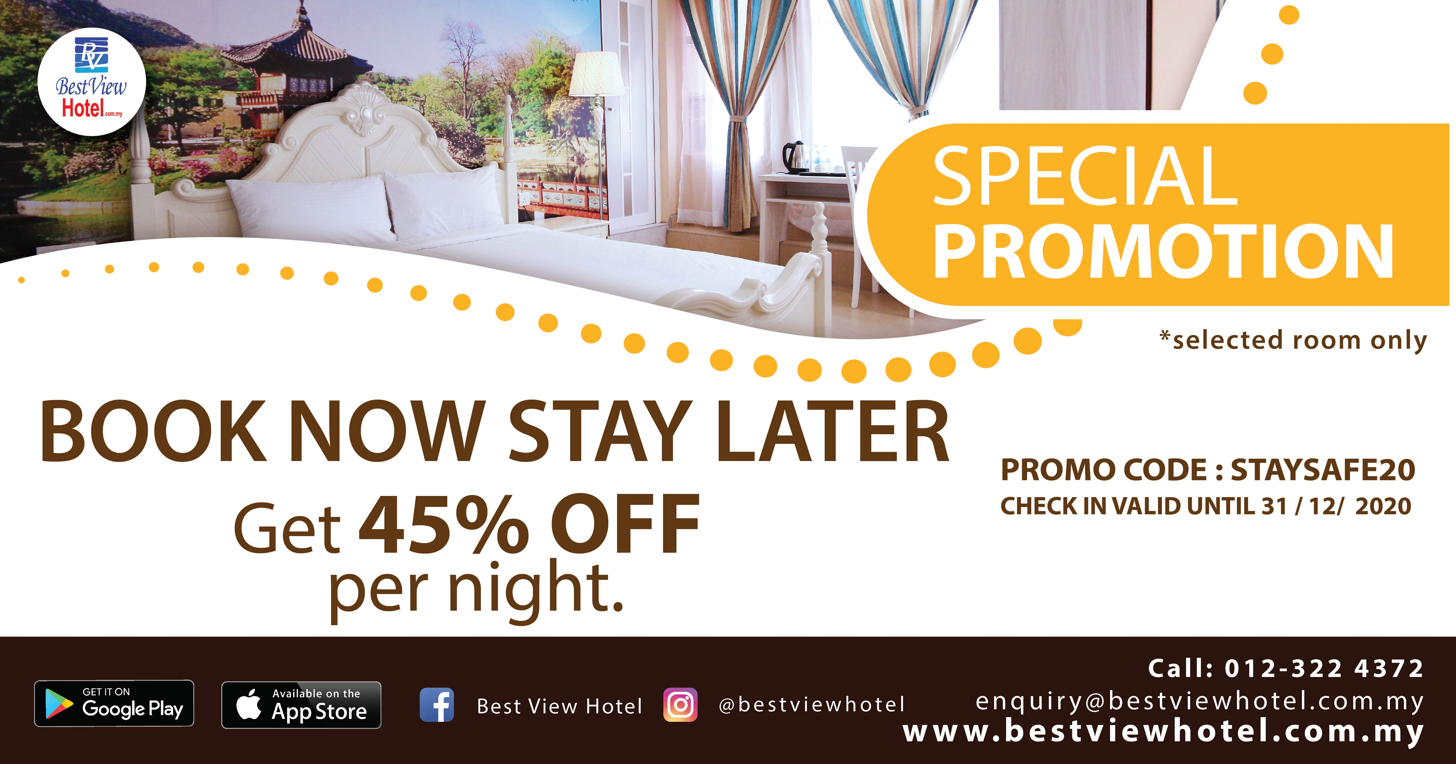 BOOK NOW STAY LATER!